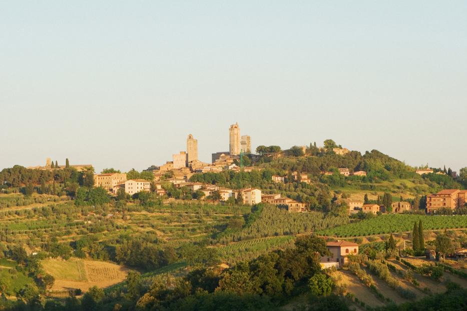 San Gimignano veduta collinare